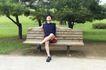 休闲时光0041,休闲时光,休闲保健,公园 坐在长椅上