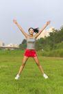 户外休闲0056,户外休闲,休闲保健,韵律人生 健美操运动员 做操