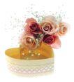 花饰小品0073,花饰小品,休闲生活,彩色 玫瑰 花枝