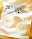 温馨烛光0021,温馨烛光,休闲生活,蜡烛 剪刀 白布