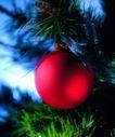 圣诞节0013,圣诞节,休闲生活,红苹果 松枝 垂挂