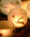圣诞节0018,圣诞节,休闲生活,烛盆 麋鹿 跳跃