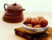茶道0135,茶道,休闲生活,核桃 茶壶 水果盆