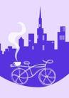 咖啡赏味0055,咖啡赏味,休闲生活,紫色都市 自行车 茶香