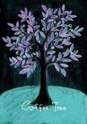 咖啡赏味0058,咖啡赏味,休闲生活,独特画卷 咖啡树 紫色叶子