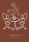 咖啡赏味0059,咖啡赏味,休闲生活,品赏咖啡 圆桌 一杯咖啡