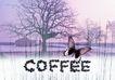 咖啡赏味0061,咖啡赏味,休闲生活,蝴蝶 树木 房屋