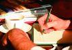 咖啡赏味0074,咖啡赏味,休闲生活,手握 铅笔 记录