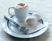咖啡0077,咖啡,休闲生活,纯白 鸡蛋 钢勺