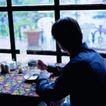 咖啡0103,咖啡,休闲生活,喝茶 望着窗外 在茶馆