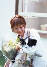 女性宠物0067,女性宠物,休闲生活,少妇 居室 爱犬