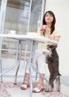 女性宠物0068,女性宠物,休闲生活,白领 咖啡 享受
