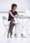 女性宠物0081,女性宠物,休闲生活,休息 动物 人物