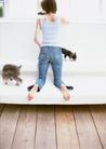 女性宠物0096,女性宠物,休闲生活,沙发 小猫 喜欢