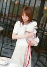 女性宠物0097,女性宠物,休闲生活,丽人 狮子狗 怀里