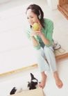 女性宠物0099,女性宠物,休闲生活,音乐 耳机 小狗