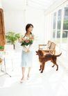 家庭宠物0090,家庭宠物,休闲生活,花朵 伴随 家庭