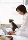 家庭宠物0094,家庭宠物,休闲生活,丽人 小狗 身边