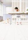 家庭宠物0095,家庭宠物,休闲生活,餐桌 就餐 爱犬