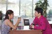 咖啡恋人0027,咖啡恋人,家庭情侣,在茶座 喝午茶 商谈