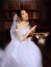 喜庆生活0220,喜庆生活,家庭情侣,室内拍摄 书架 美丽新娘