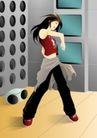 减肥瘦身0051,减肥瘦身,标题插画,时尚男女 做锻炼 运动装