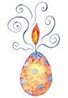 生日礼物0042,生日礼物,标题插画,红火 蓝色线条