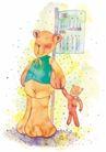 生日礼物0044,生日礼物,标题插画,可爱小熊