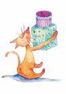 生日礼物0046,生日礼物,标题插画,礼盒