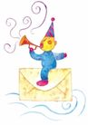 生日礼物0049,生日礼物,标题插画,尖帽子