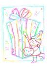 生日礼物0056,生日礼物,标题插画,