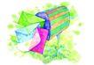 生日礼物0061,生日礼物,标题插画,信箱 邮筒 信件