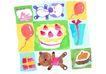 生日礼物0066,生日礼物,标题插画,坐垫 卡通 图画