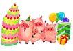 生日礼物0074,生日礼物,标题插画,生日 蛋糕 多层