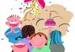 生日礼物0079,生日礼物,标题插画,儿童 节日 开心