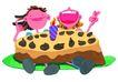 生日礼物0080,生日礼物,标题插画,超级 奶油 巧克力
