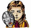 趣味插画0062,趣味插画,标题插画,脸谱 面具 女人