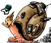 趣味插画0064,趣味插画,标题插画,蜗牛 爬行 动物