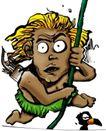 趣味插画0066,趣味插画,标题插画,绳索 箭筒 攀岩
