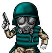 趣味插画0067,趣味插画,标题插画,警察 手枪 面具