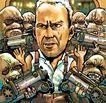 趣味插画0075,趣味插画,标题插画,举手 投降 政变