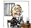 趣味插画0097,趣味插画,标题插画,老人 房屋 桌椅