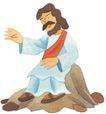 圣教0141,圣教,标题插画,大胡子