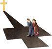 圣教0150,圣教,标题插画,教徒 祈祷