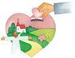 圣教0153,圣教,标题插画,红心 小房子