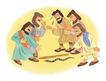圣教0158,圣教,标题插画,地上的蛇