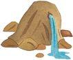 圣教0168,圣教,标题插画,泉水 岩石