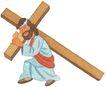 圣教0169,圣教,标题插画,背着十字架