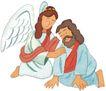 圣教0173,圣教,标题插画,凡人 天使 叩拜