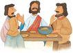 圣教0175,圣教,标题插画,教徒 好朋友 聚餐
